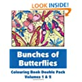 Bunches of Butterflies Colouring Book Double Pack (Volumes 1 & 2) (Art-Filled Fun Colouring Books)