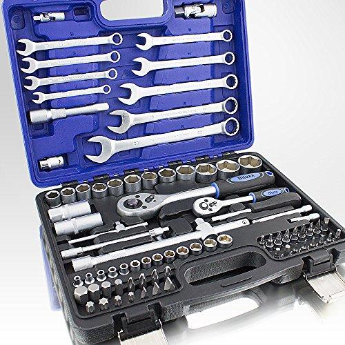 82-Teiliges-Werkzeugkoffer-Knarrenkasten-Werkzeugset-Werkzeugkasten-Ratschenkasten-Maulschlssel-Bit-Stecknuss-Kardangelenk-Schraubenschlssel-Werkzeug-Set