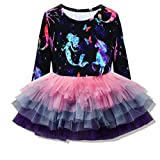 VIKITA Toddler Girl Long Sleeve Starry Fairy Mermaid Dress Baby Girls Winter Birthday (4T, LH4593) (Color: Lh4593, Tamaño: 4T)