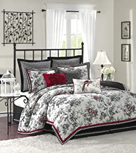Beautiful Hampton Hill Summerfield Polyester Jacquard Piece Comforter Set King Multi LGS