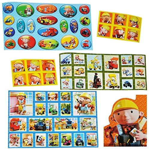 Set-67-Stk-Sticker-Aufkleber-Bob-der-Baumeister-Buddel-Mixi-Baustelle-selbstklebend-Stickerbox-Wendy-Auto-Bagger-Jungen-Stickerset-Kinder-zB-fr-Stickeralbum