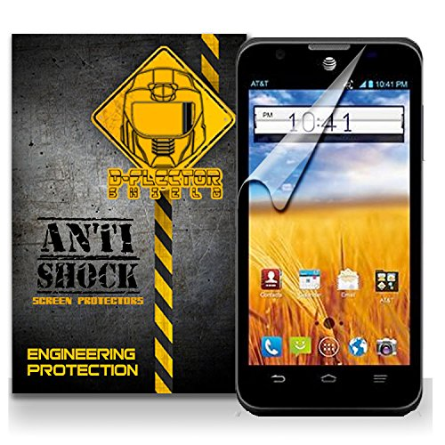 D-Flectorshield Zte At&T Z998 Mustang Anti-Shock/Military Grade/ Tpu /Premium Screen Protector / Self Healing / Oleophobic Material / Ez Install / Ultra High Definition / Scratch Proof / Bubble Free Install / Precise Laser Cuts front-558844