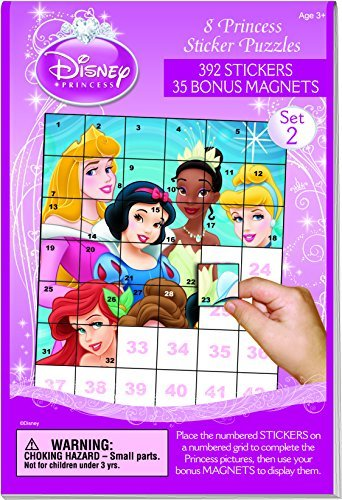 Disney Princess Sticker Puzzle Book #2 w/ Magnets New