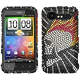 Asmyna HTCADR6350HPCDM145NP Dazzling Luxurious Bling Case for HTC Droid Incredible 2 ADR6350 - 1 Pack - Retail Packaging - Flame Skull