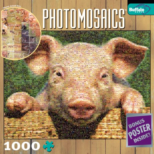 Cheap Fun Buffalo Games Photomosaic: Pig (B000NCAIP2)