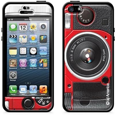 id America Cushi Plus Camera iPhone 5対応 【3Dクッションシール 側面バンパーセット】 Red CSIAF509-Red-A