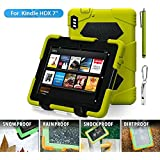 "HDX 7 Case,Kindle Fire HDX 7"" 2013 Case,ACEGUARDER®[Heavy Duty] Three Layer Armor Defender And Full Body Protective Case Cover With Kickstand And Screen Protector for Amazon Kindle Fire HDX 7"" 2013[Gifts Outdoor Carabiner + Whistle + Handwritten Touch Pen] - Apple/Black"