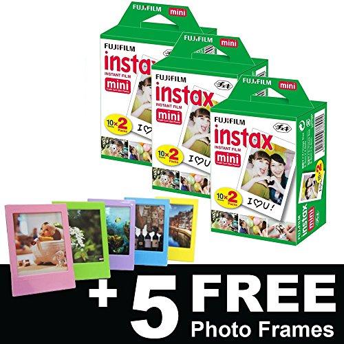 Fujifilm Instax Mini Film (60photos) + 5sans cadres photo