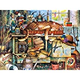 Buffalo Games Charles Wysocki Cats: Remington The Horticulturist Jigsaw Puzzle (750 Piece)