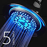 DreamSpa All-Chrome Water Temperature Color-Changing LED Shower Head by Top Brand Manufacturer