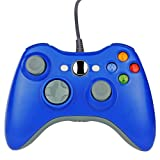 Wetoph Xbox 360 Wired Controller, XS01 PC Controller USB Gamepad Game Joystick Joypad Compatible for Microsoft 360 Console Windows PC Laptop Computer-Blue (Color: Blue/CD25, Tamaño: CD25)