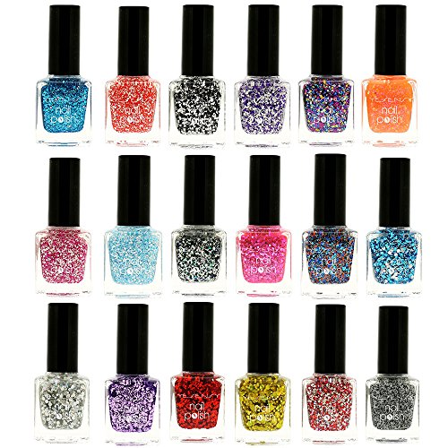 VERNIS A ONGLES, VERNIS A ONGLES PAILLETE, LOT DE VERNIS A ONGLES, COFFRET DE VERNIS A ONGLES, VERNIS A ONGLES YESENSY