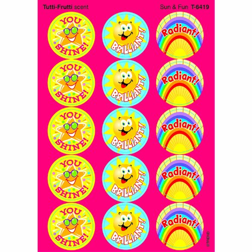 Trend Enterprises Sun & Fun Stinky Stickers (T-6419)