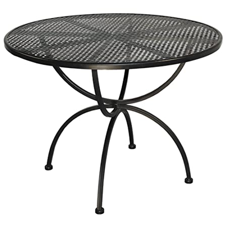 Mesa de hierro 100 cm Romeo redondo para exterior jardín m 0976-09 mobiliario