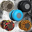 Patuoxun Waterproof Portable Wireless Bluetooth 3.0 Mini Speaker Shower Pool Car Handsfree Mic for Apple iphone 4/4S,iPhone5/5S, ipad ipod Sumsang galaxy S4, Note3,Tablet PC/Other Bluetooth Moblie Phone---Blue Color