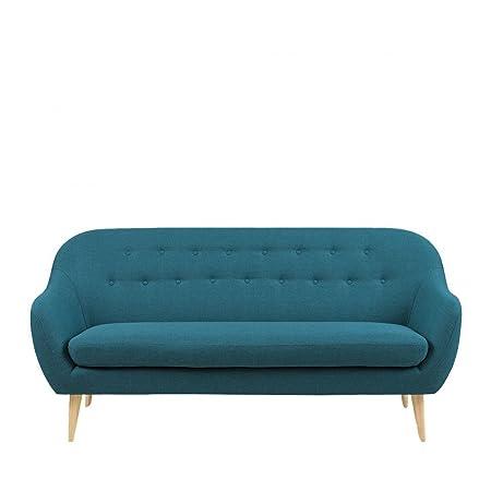 Canapé 3 places design scandinave Cirrus - Couleur - Bleu pétrole