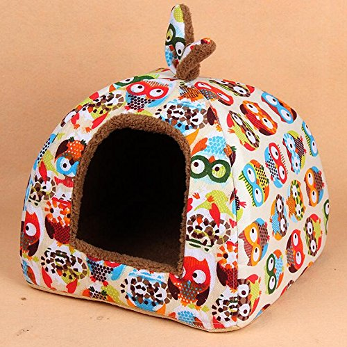 BE GOOD Puppy Cat Warm House Plush Cozy Nest Mat Pad Pet Nest Dog Cat Bed Foldable 2 Sizes