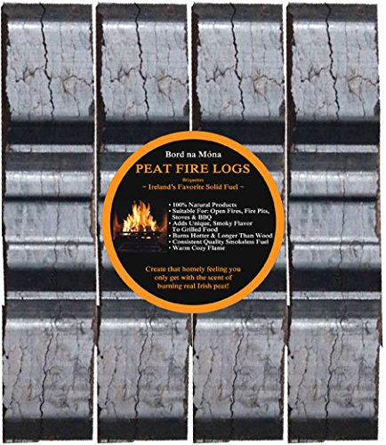 Bord Na Mona Peat Briquettes (4 Fire Logs)