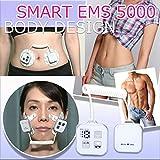 EMS Smart EMS 5000 顔用&体用/高機能でコンパクトなサイズ ,ショップチャンネルHIT、ダイエットマシーン 全身、顔も使用可、 腹筋マシーン パット付 (スマートEMS 5000(本体+付属品セット))