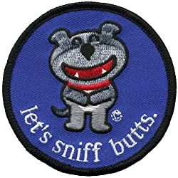 Old Glory Unisex-Adult Dog Of Glee - Lets Sniff Butts Patch Nylon Accessory by Old Glory