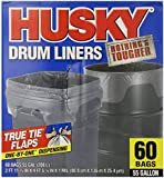 Husky Drum Liners, 55 Gal Clear