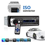 Car Stereo with Bluetooth, Ewalite Universal In-Dash Single Din Car Radio Receiver MP3 Player / USB / SD Card / AUX / FM Radio with Remote Control