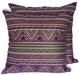CushionArt Seesan 18x18in Decorative Throw Pillow Case Cushion Covers - Purple - Set of 2