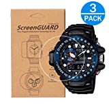 [3-Pack] for Casio GWN-1000 Watch Screen Protector,Full Coverage Screen Protector Watch HD Clear Anti-Bubble and Anti-Scratch