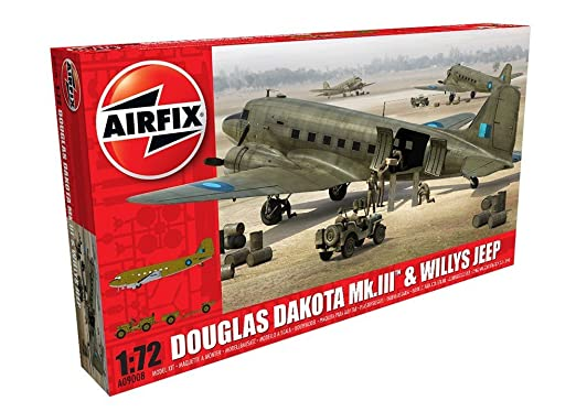 Airfix - AI09008 - Douglas Dakota MkIII avec Willys Jeep