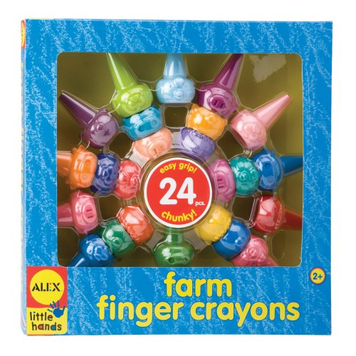 Alex Toys Farm Finger Crayons, Alex Little Hands Art Series