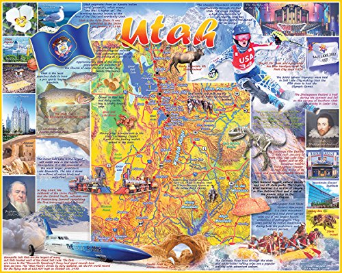 White Mountain Puzzles Utah - 1000 Piece Jigsaw Puzzle
