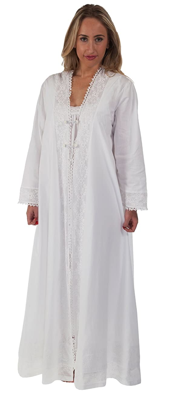The 1 for U 100% Cotton Ladies Robe / Housecoat - Rosalind 0