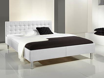 """Polsterbett Jugenbett Einzelbett Bett Ehebett Betten """"Phantasia I"""" (140x200 cm) (Weiß)"""