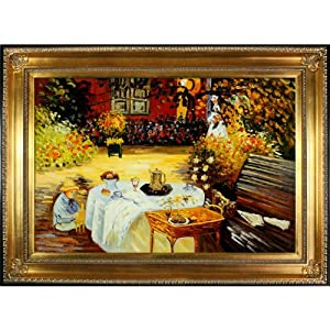 Overstockart the luncheon framed oil for Framed reproduction oil paintings