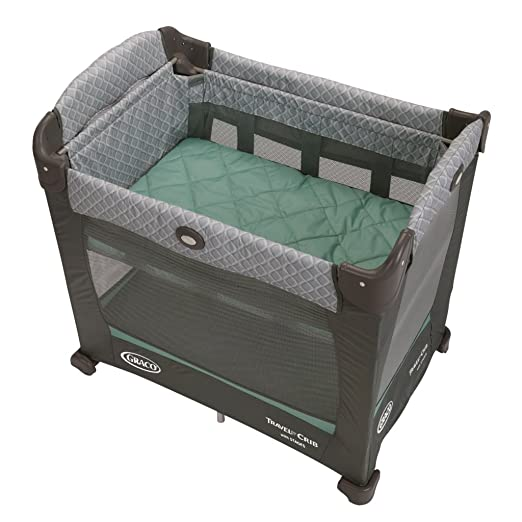 Graco Pack and Play Bassinet Travel Lite Crib with Stages, Manor Review