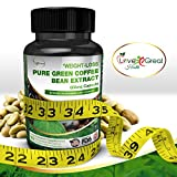 Pure Green Coffee Bean Extract 800MG 60 Capsules With 50% Chlorogenic Acid Antioxidant - Appetite Suppressant Supplement - Helps Women & Men Lose Weight & Burn Fat - Made In USA and No Side Effects