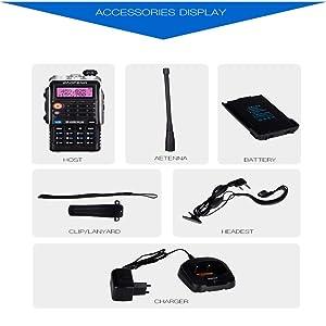 QUARKJK LED Light 4800mah Battery Bf-Uvb2 Baofeng Uvb2 Plus for WalkieTalkie Cb Radio Mobile Comunicador High Power Baofeng 8w b2,1pcs (Tamaño: 1pcs)