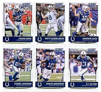 2016 Score Indianapolis Colts Veterans Team Set of 11 Football Cards: Andrew Luck(#137), Matt Hasselbeck(#138), Frank Gore(#139), T.Y. Hilton(#140), Donte Moncrief(#141), Andre Johnson(#142), Coby Fleener(#143), Phillip Dorsett(#144), Robert Mathis(#145),