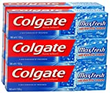 6x Colgate Max Fresh Cool Mint with Cooling Crystals Toothpaste 100ml