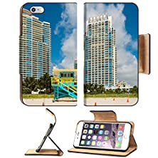 buy Msd Apple Iphone 6 Plus Iphone 6S Plus Flip Pu Leather Wallet Case South Beach Lifeguard Station In Miami Beach With Tall Condos In The Background Image 20379656