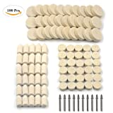 100Pcs Wool Felt Polishing Pad & Polishing Wheel, Kicpot Point & Mandrel Kit for Dremel Rotary Tools (100Pcs) (Color: 100Pcs)