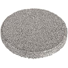 Sintered Metal 316L Stainless Steel Filter Disc, 1/2&#034; Diameter, 1/16&#034; Thick, 2 Micron Pore Size (Pack of 10)