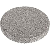 "Sintered Metal 316L Stainless Steel Filter Disc, 1/2"" Diameter, 1/16"" Thick, 0.5 Micron Pore Size (Pack of 10)"