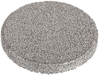 "Sintered Metal 316L Stainless Steel Filter Disc, 3/4"" Diameter, 1/16"" Thick, 10 Micron Pore Size (Pack of 10)"