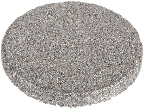 """Sintered Metal 316L Stainless Steel Filter Disc, 1/2"""" Diameter, 1/16"""" Thick, 40 Micron Pore Size (Pack of 10)"""