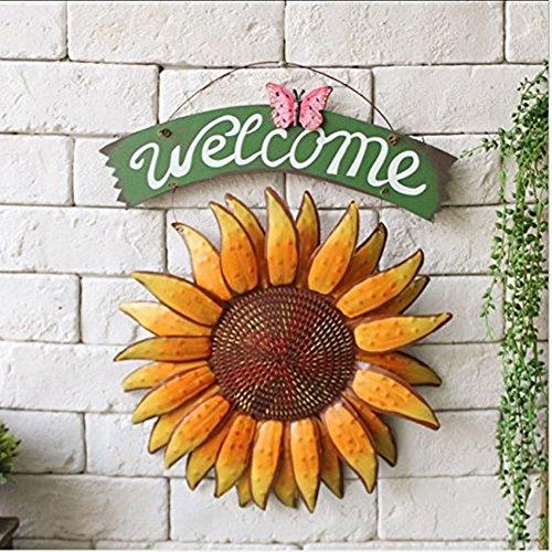 soleus-30-385cm-vintage-hangend-schmetterling-sonnenblume-willkommensschild-sonnenblume-dekor-fur-tu
