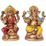 Multicolour Lord Laxmi Ganesha Statue Hindu Goddess Laxmi And God Ganesh Handicraft Idol Diwali Decorative Spiritual...