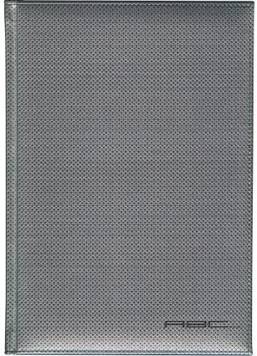 Pierre Belvedere Power Titanium Large Address Book, Padded Cover, Black/Silver (987770)