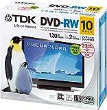 TDK 録画用DVD-RW デジタル放送録画対応(CPRM) 1-2倍速 インクジェットプリンタ対応(ホワイト・ワイド) 10枚パック 5mmスリムケース DRW120DPWA10U