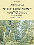 img - for The Four Seasons and Other Violin Concertos in Full Score: Opus 8, Complete (Dover Music Scores) book / textbook / text book